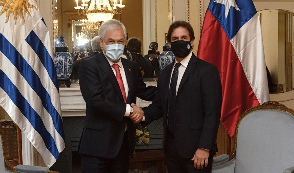 Presidente Luis Lacalle Pou recibió a su par de Chile, Sebastián Piñera   Am 550